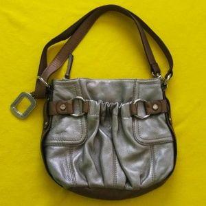 Tignanello Leather Hobo HandBag Purse